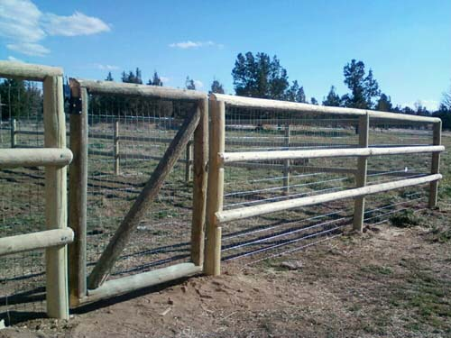 Pole Fence And Gate Bend Fencing Cedar Chain Link