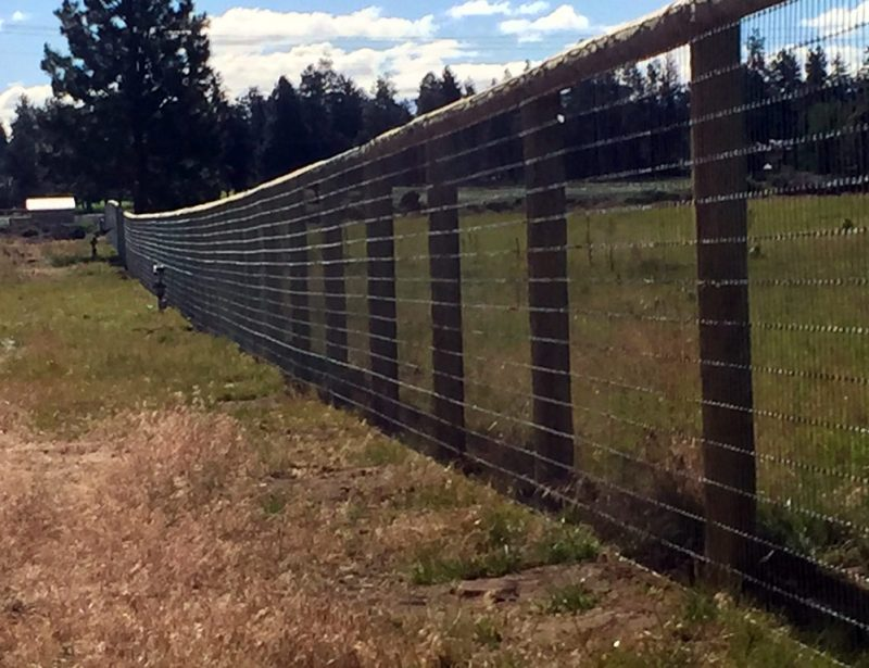 Ranch Fence With Wire Screen Bend Fencing Cedar Chain